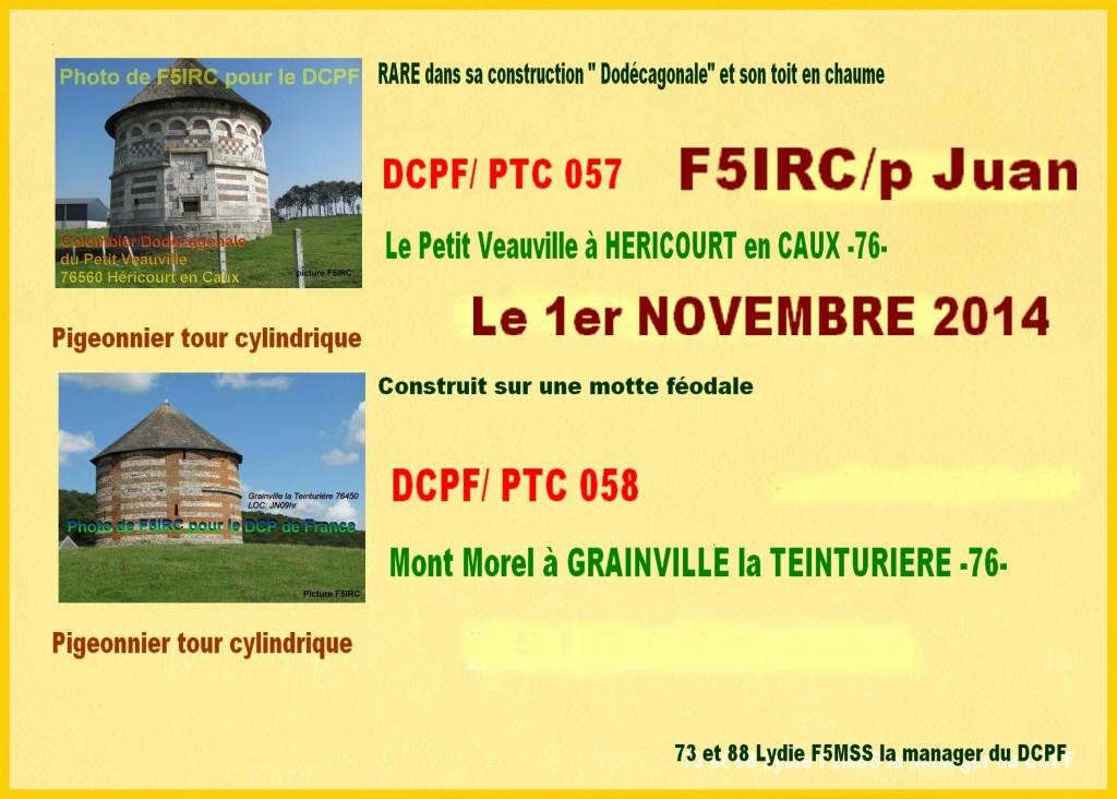 F5IRC PTC 057 PTC 058-dépt 76