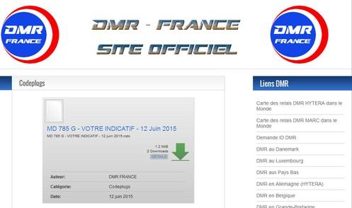 DMR France Codes Plugs par F1TUV! | Radioamateurs Actualités