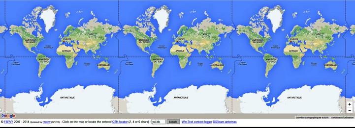 Carte QTH Locator